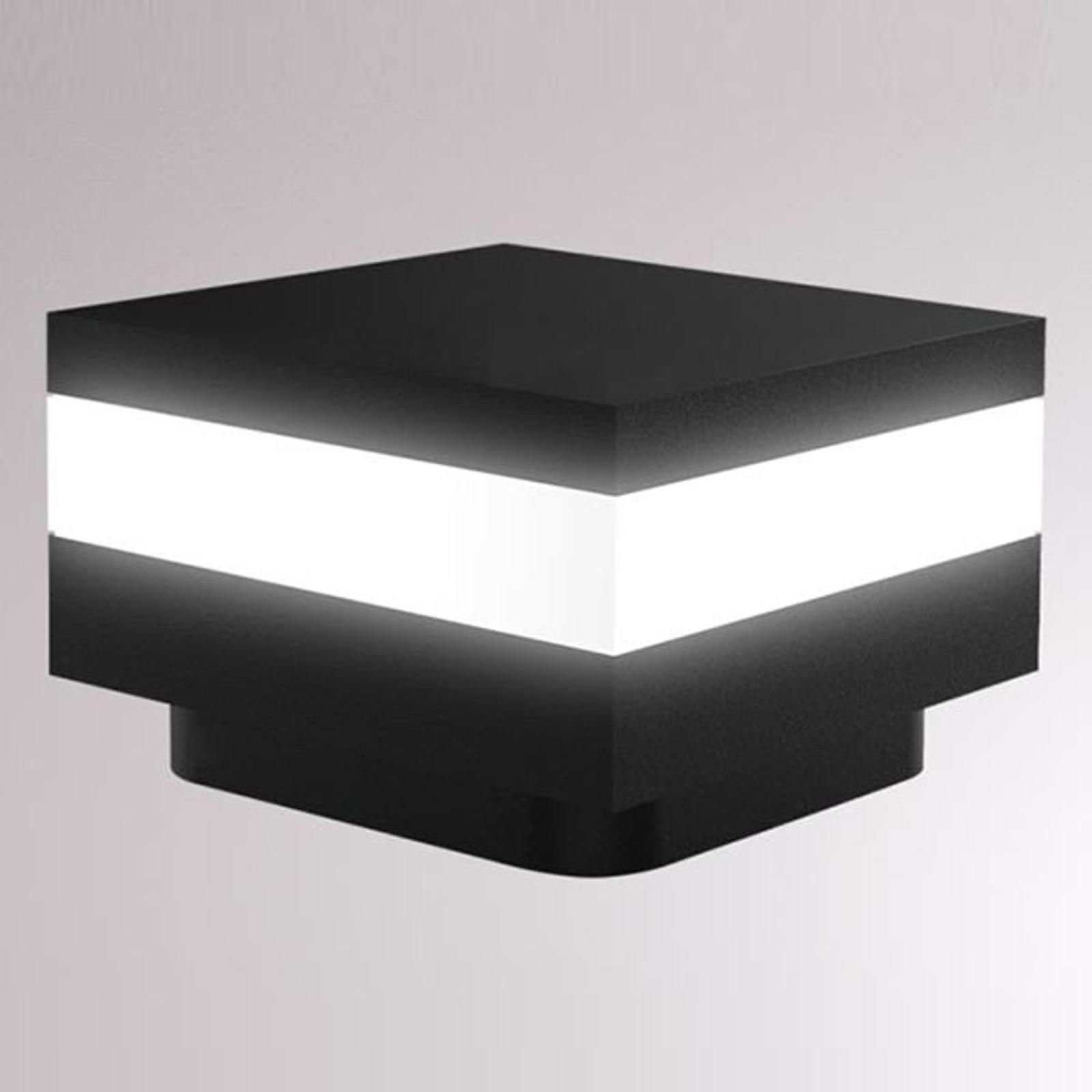 LOUM Mash -LED-pollarivalaisin, IP65, musta