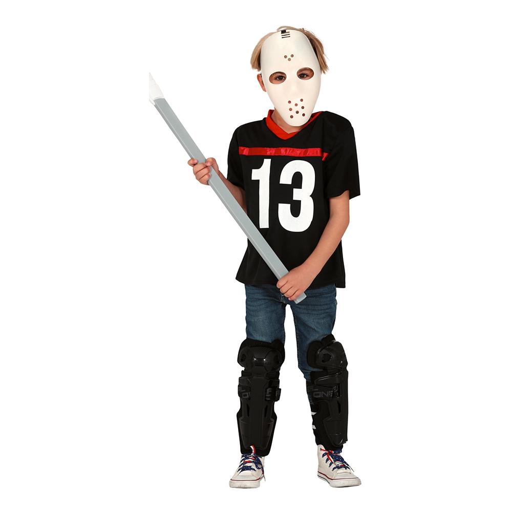 Hockeyspelare Halloween Barn Maskeraddräkt - Small