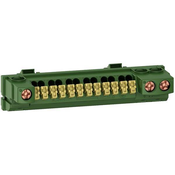 Schneider Electric R9H13409 Maadoituskisko Resi9-standardikotelolle, 15 liitäntää