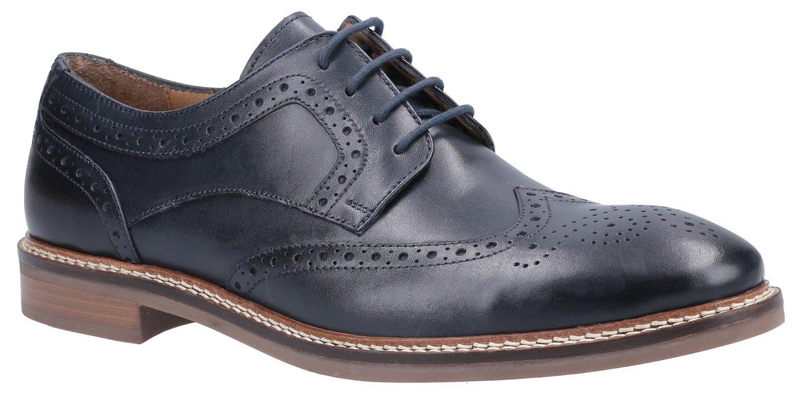 Hush Puppies Men's Bryson Lace Brogue Shoes Various Colours 31280 - Navy 6