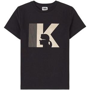 Karl Lagerfeld Kids Gold logo T-shirt Svart 5 år