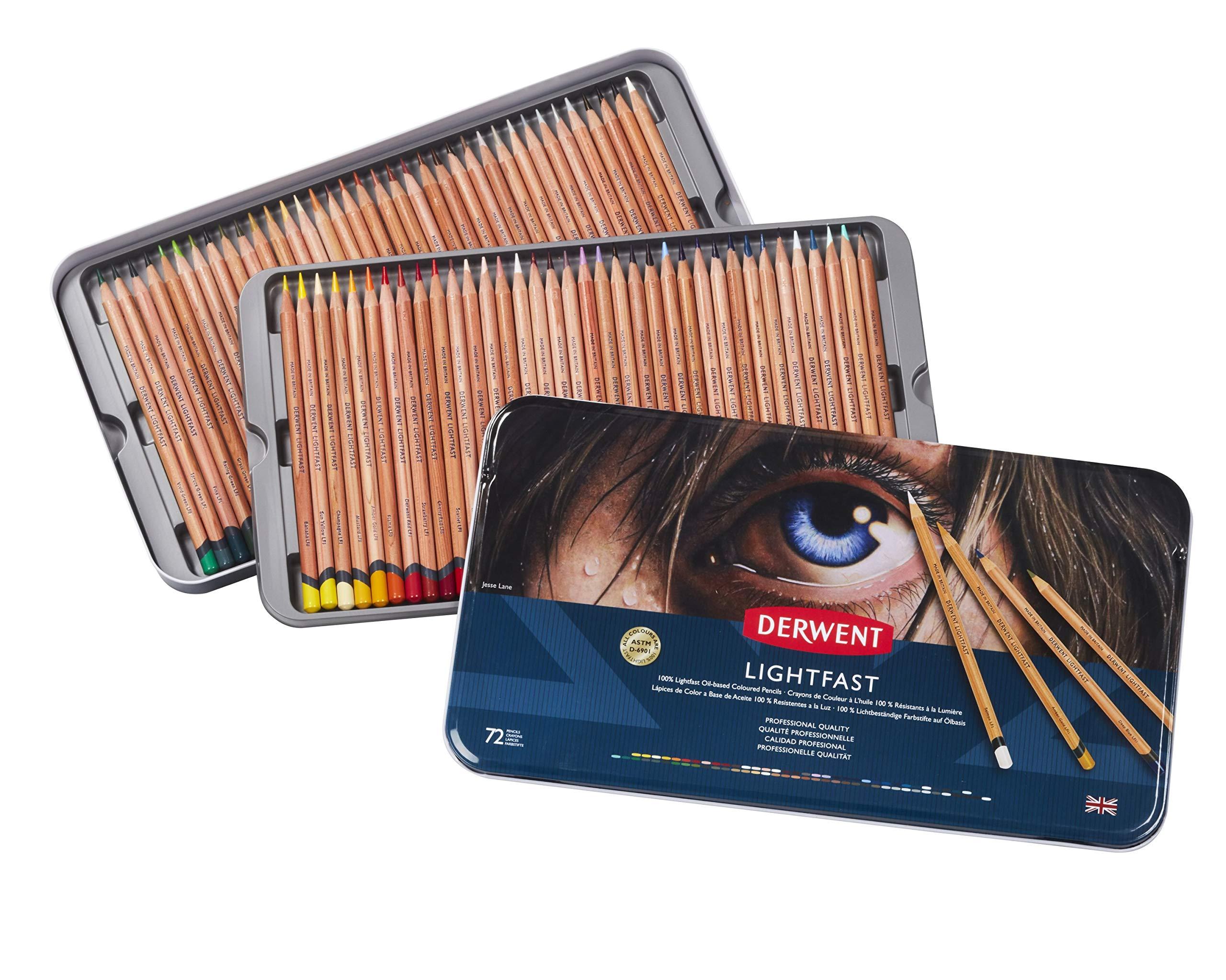 Derwent - Lightfast Pencils, 72 Tin