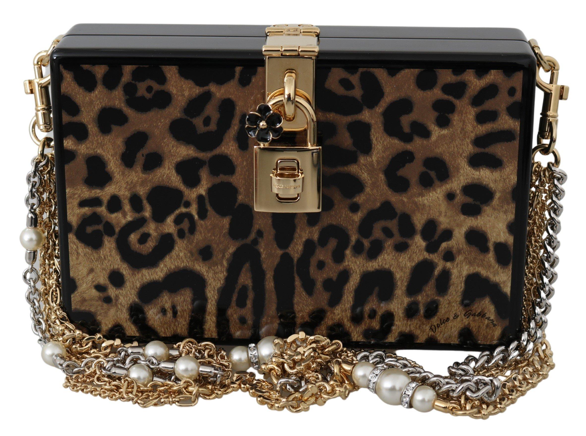 Dolce & Gabbana Women's BOX Wood Shoulder Bag Brown VAS9722