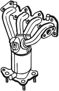Katalysaattori, Edessä, SEAT AROSA, CORDOBA, CORDOBA Vario, IBIZA II, VW LUPO, POLO, POLO Classic, POLO Variant, 030253052AX