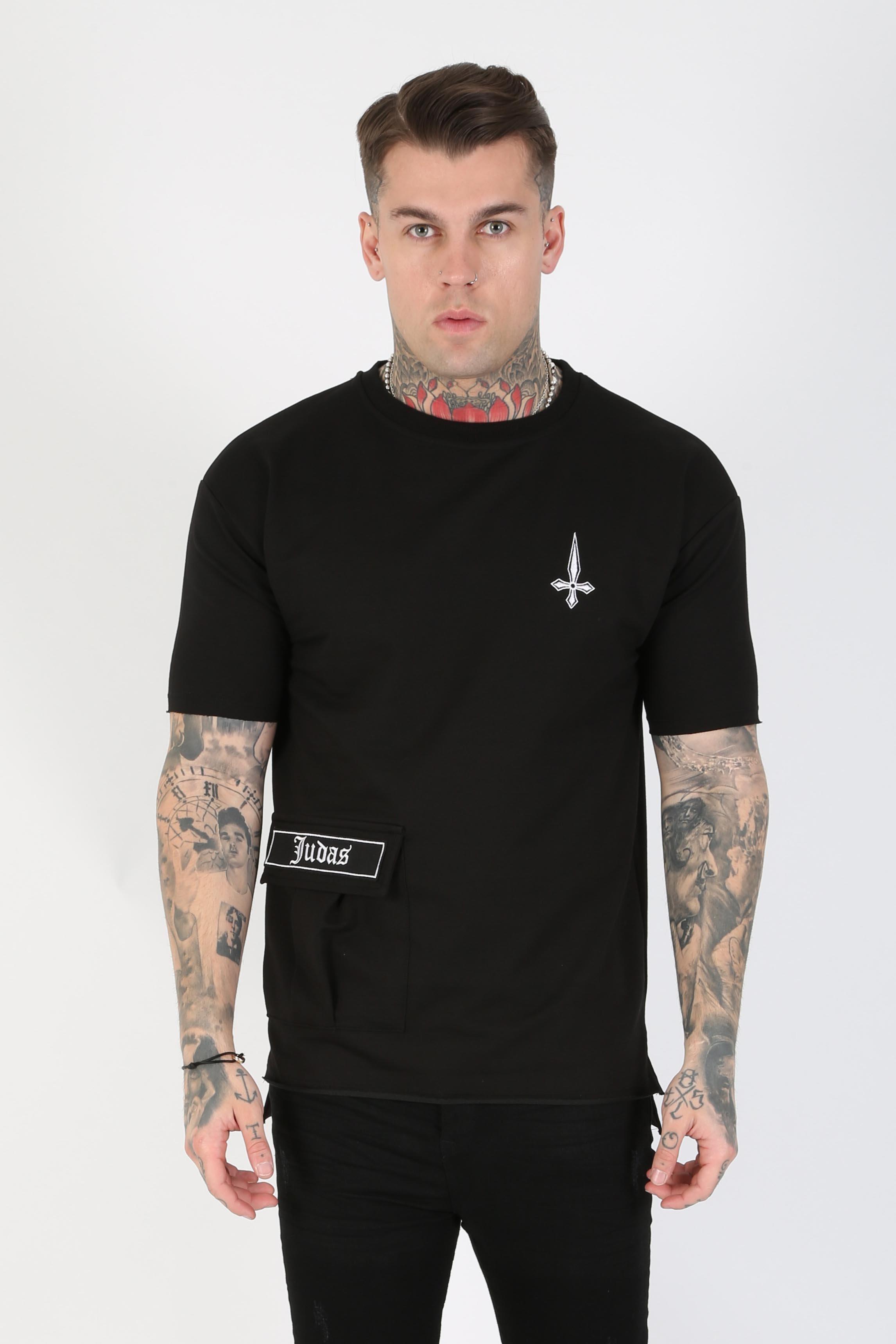 Stant Pocket Detail Men's T-Shirt - Black, X-Large