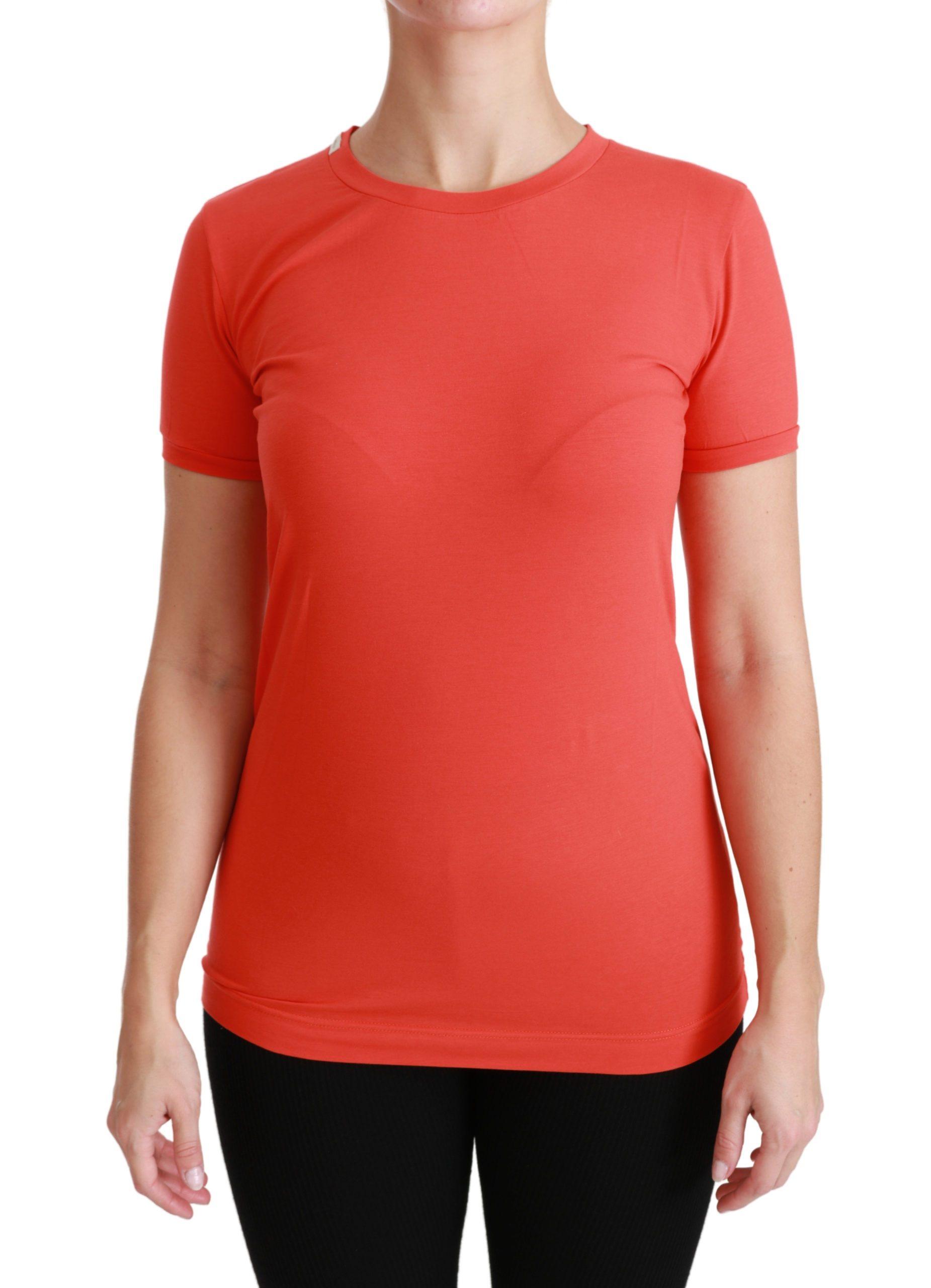 Dolce & Gabbana Women's SS T-Shirt Red TSH4429 - IT36 | XS