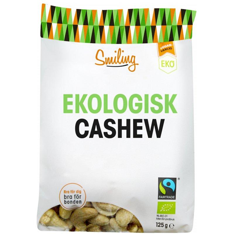 Eko Cashewnötter Naturell 125g - 16% rabatt