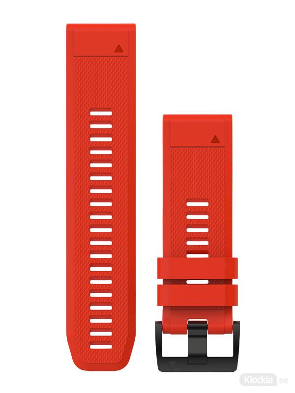 Garmin Armband 26mm QuickFit Röd silikon 010-12517-02