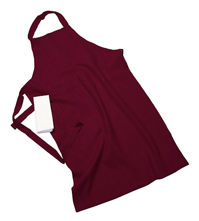 Erik classic langt forkle – Med håndduk, cherry