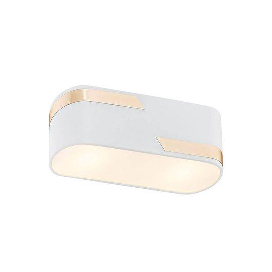 Taklampe Tilden, 20 cm, hvit/gull