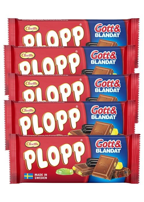 Plopp Gott Blandat 75g x 5 st