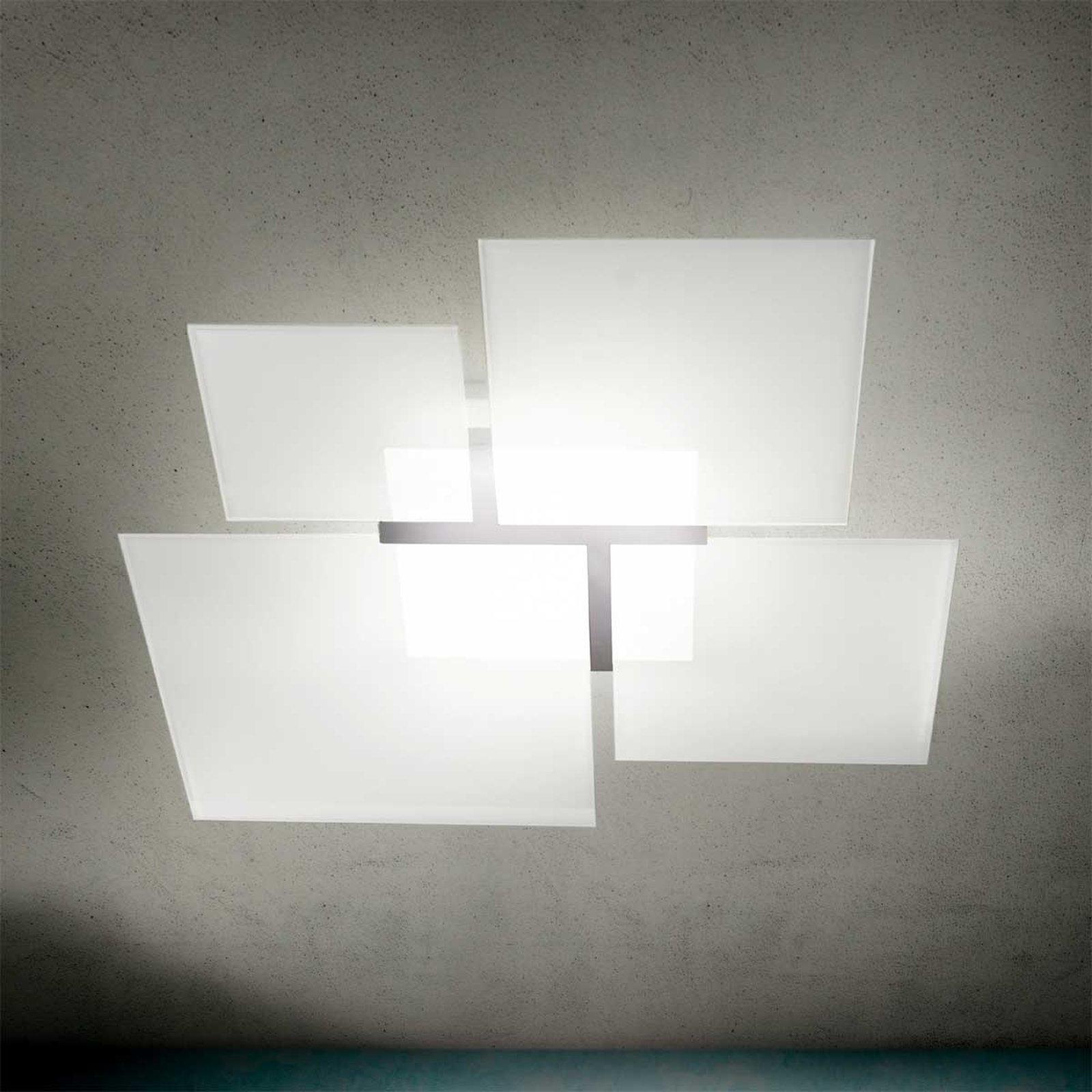 Taklampe Quadrifoglio 8050, stål, 106 cm