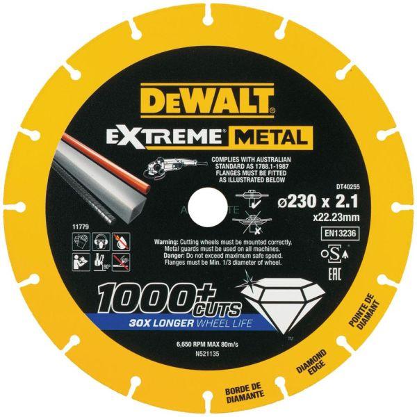 Dewalt Extreme Metal Diamond Edge Diamantkappskive 230 x 22,23 x 2,1 mm