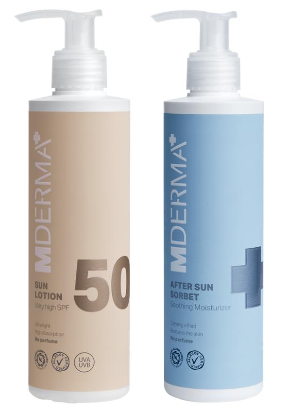 MDerma - SUN50 Sun Lotion SPF 50 200 ml + SUN After Sun Sorbet 200 ml