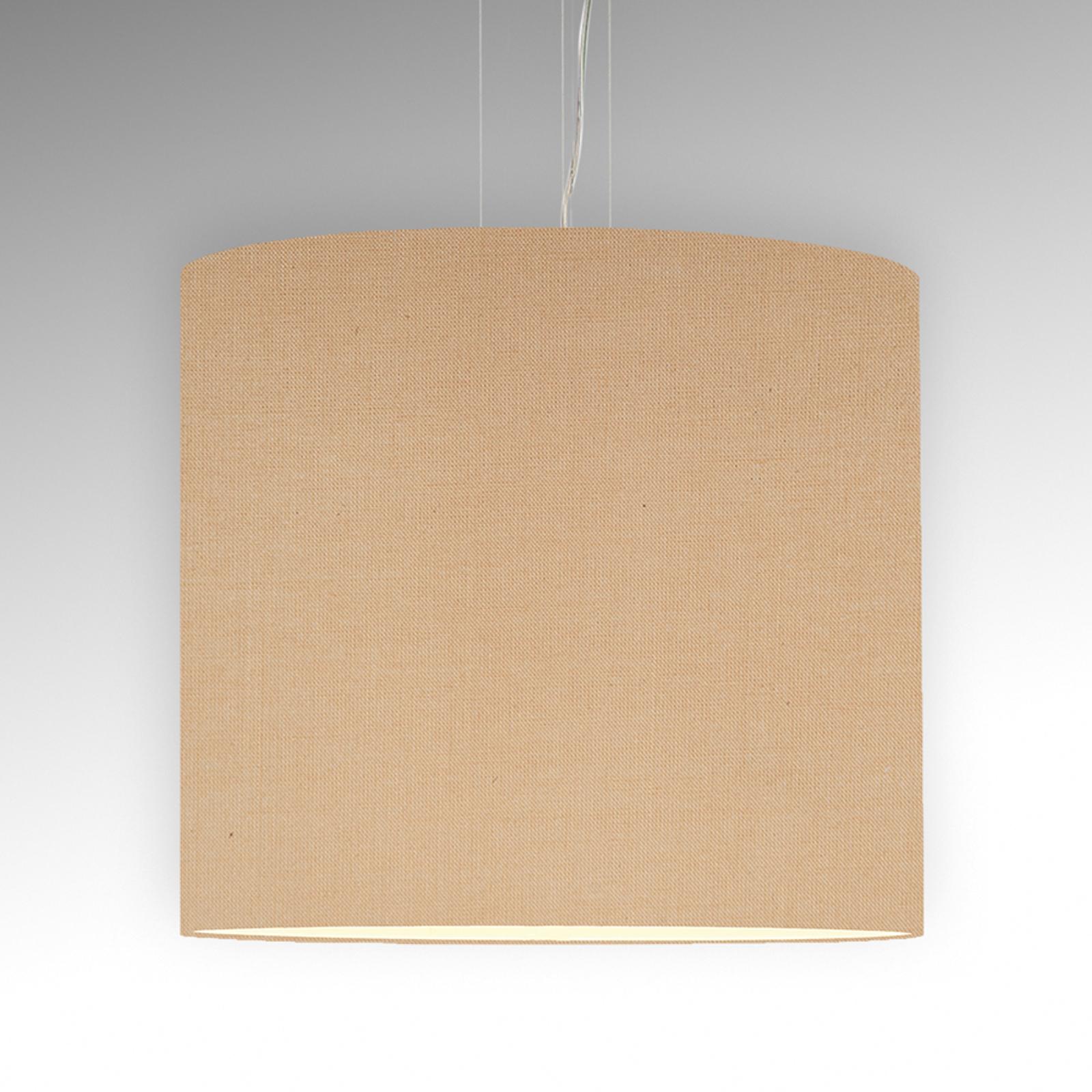 Pelkistetty Tono-riippuvalaisin, beige Ø 60 cm