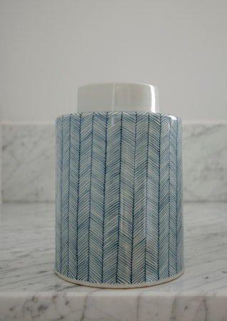 Tweed keramikkboks – Indigo