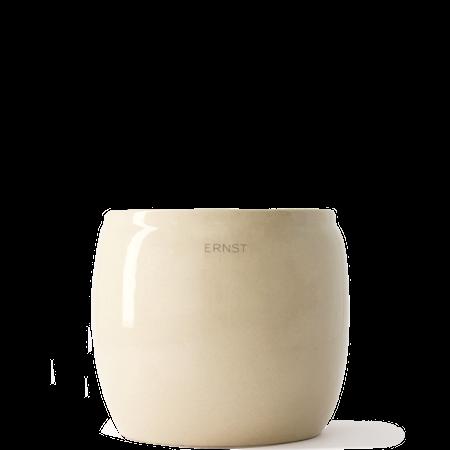 Blomsterkrukke Glasert keramikk 17,5x17,5 cm Beige