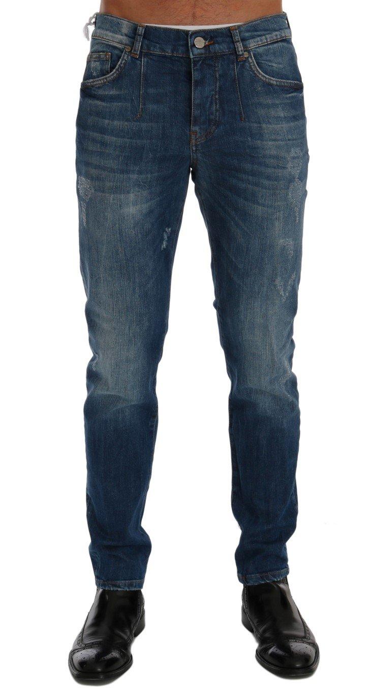 Frankie Morello Women's Perth Slim Fit Jeans Blue SIG60485 - W32