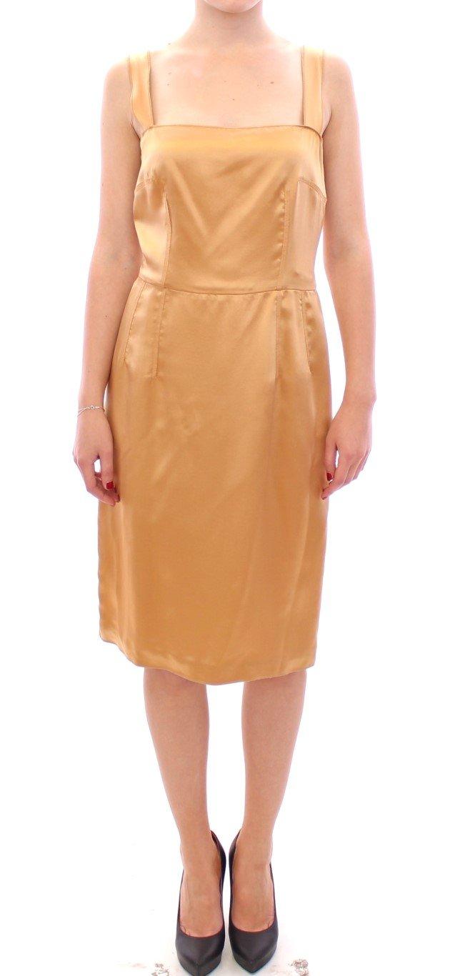 Dolce & Gabbana Women's Silk sheath Dress Bronze GSS11464 - IT36 XXS