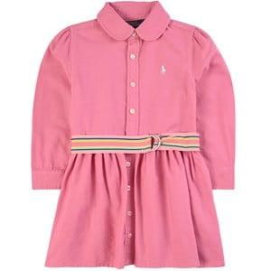 Ralph Lauren Woven Belted Skjortklänning Rosa 7 år