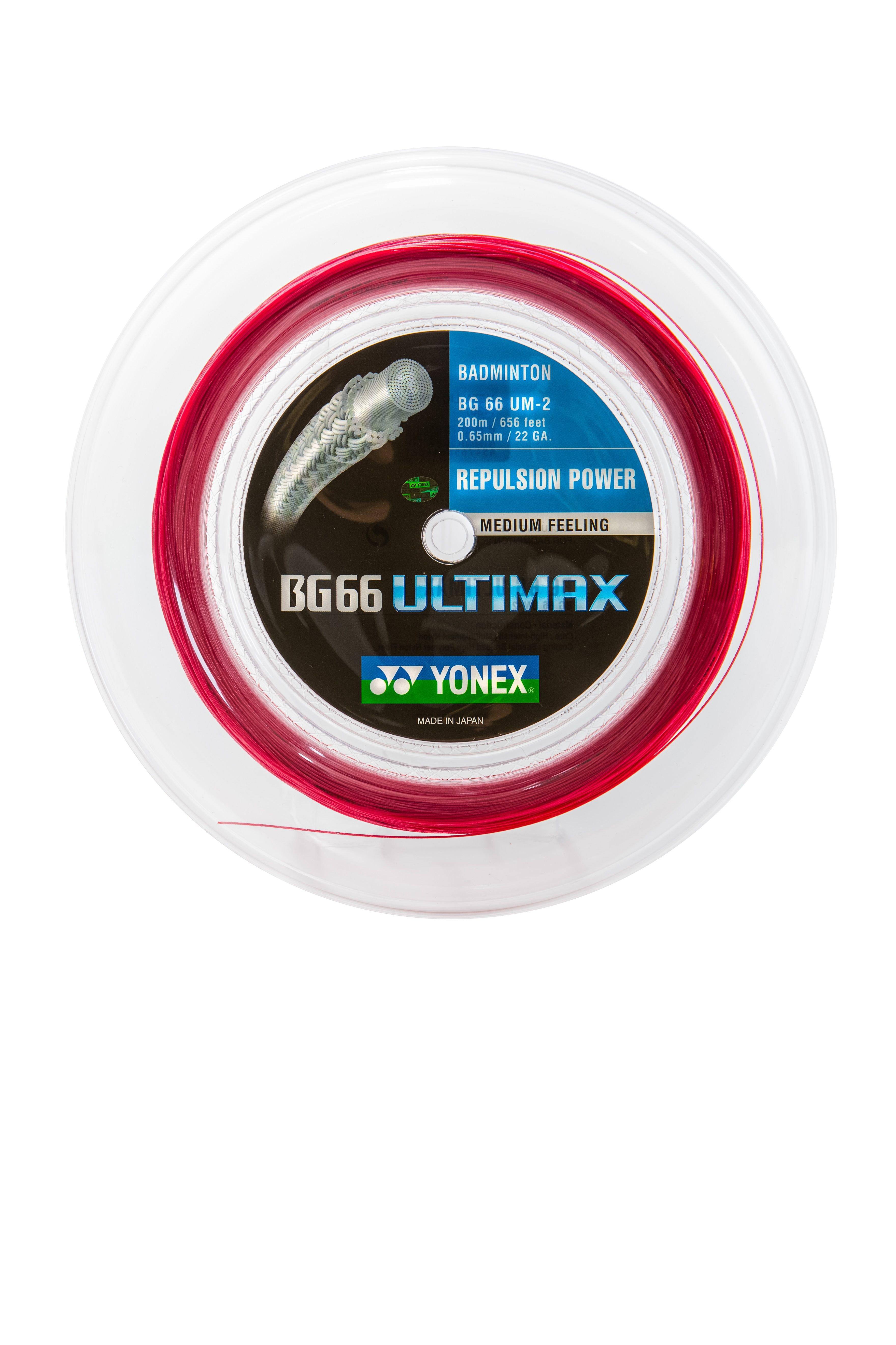 Yonex BG-66 ULTIMAX Badmintonstring red