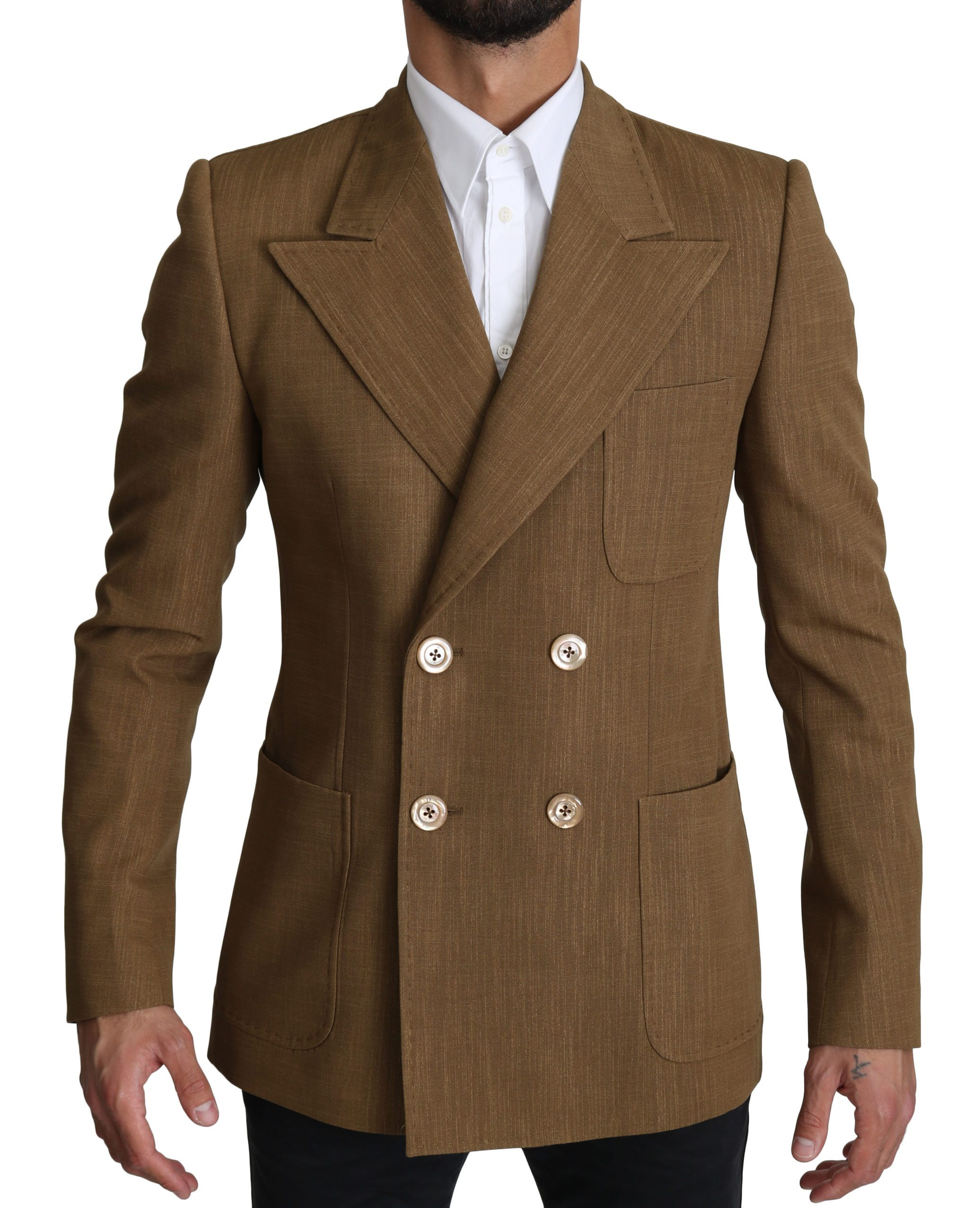 Dolce & Gabbana Men's Formal Slim fit Blazer Brown KOS1529 - IT48 | M