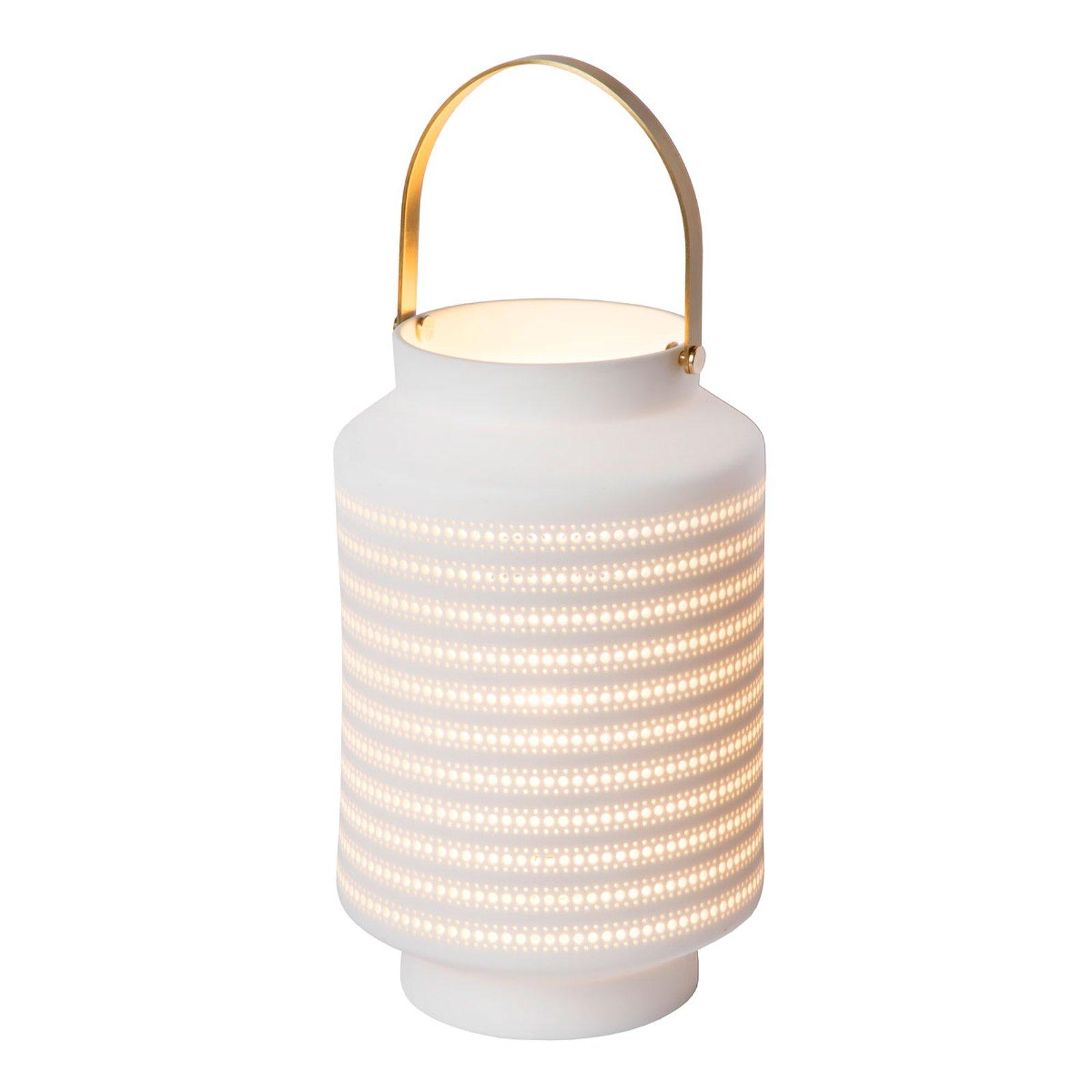 Jamila bordlampe av porselen, hvit