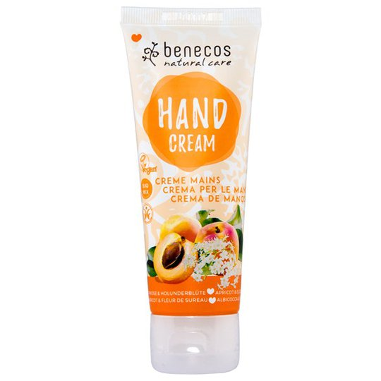Benecos Natural Hand Cream Apricot & Elderflower, 75 ml