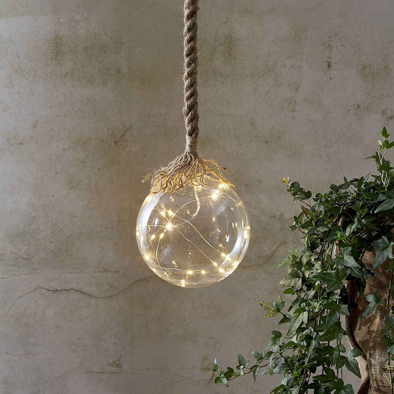 Jutta-LED-koristevalaisin, lasipallo Ø 15 cm