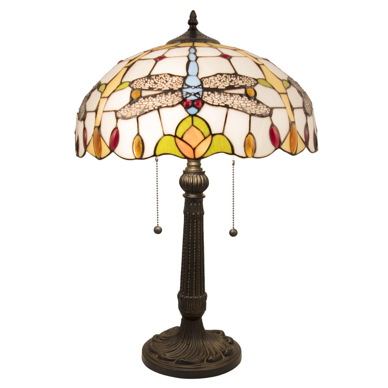 Pöytälamppu 5945 tiffany-tyyliä