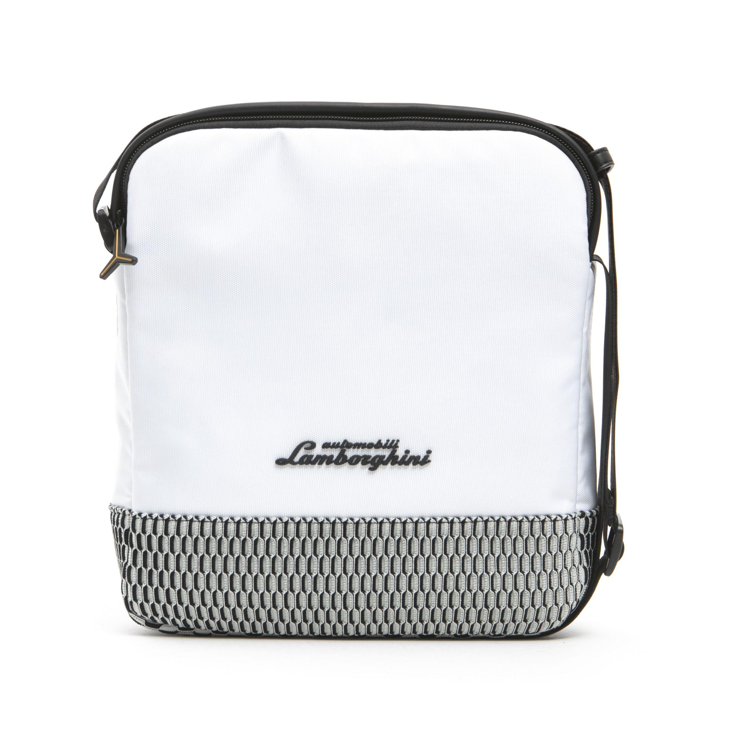 Lamborghini Men's Bianco Messenger Bag White LA1265750