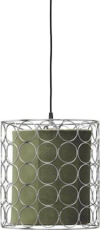 Ring Taklampe 30 cm Krom/Grønn