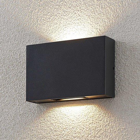LED-ulkoseinävalaisin Isalie, tummanharmaa