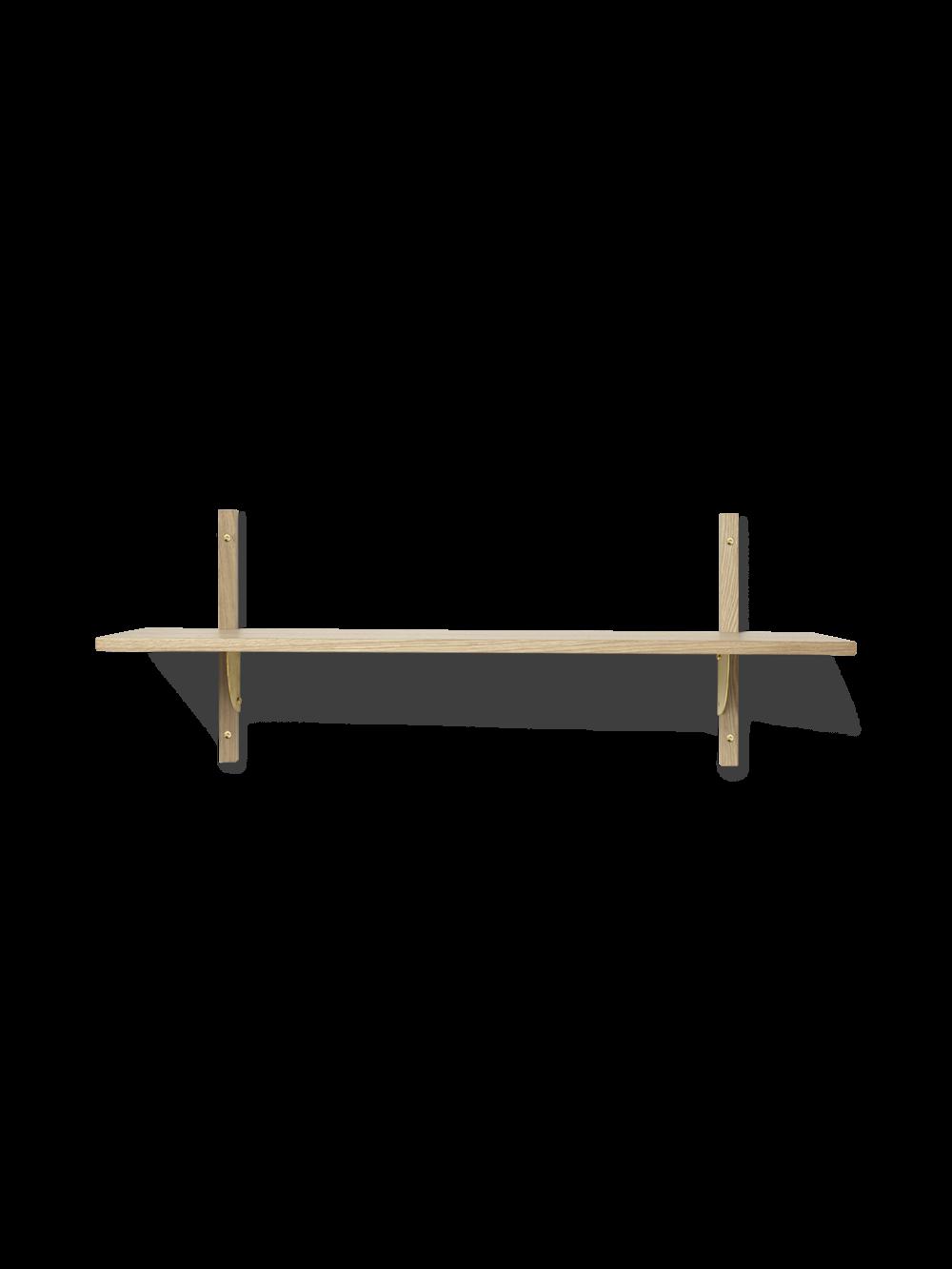 Ferm Living - Sector Shelf L/S - Natural Oak/Brass (1103432852)
