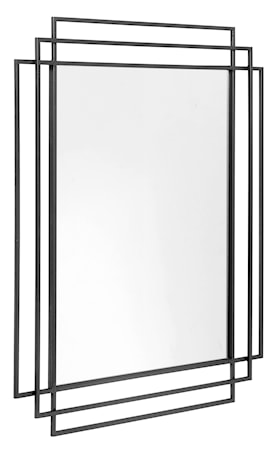 SQUARE Spegel - Svart