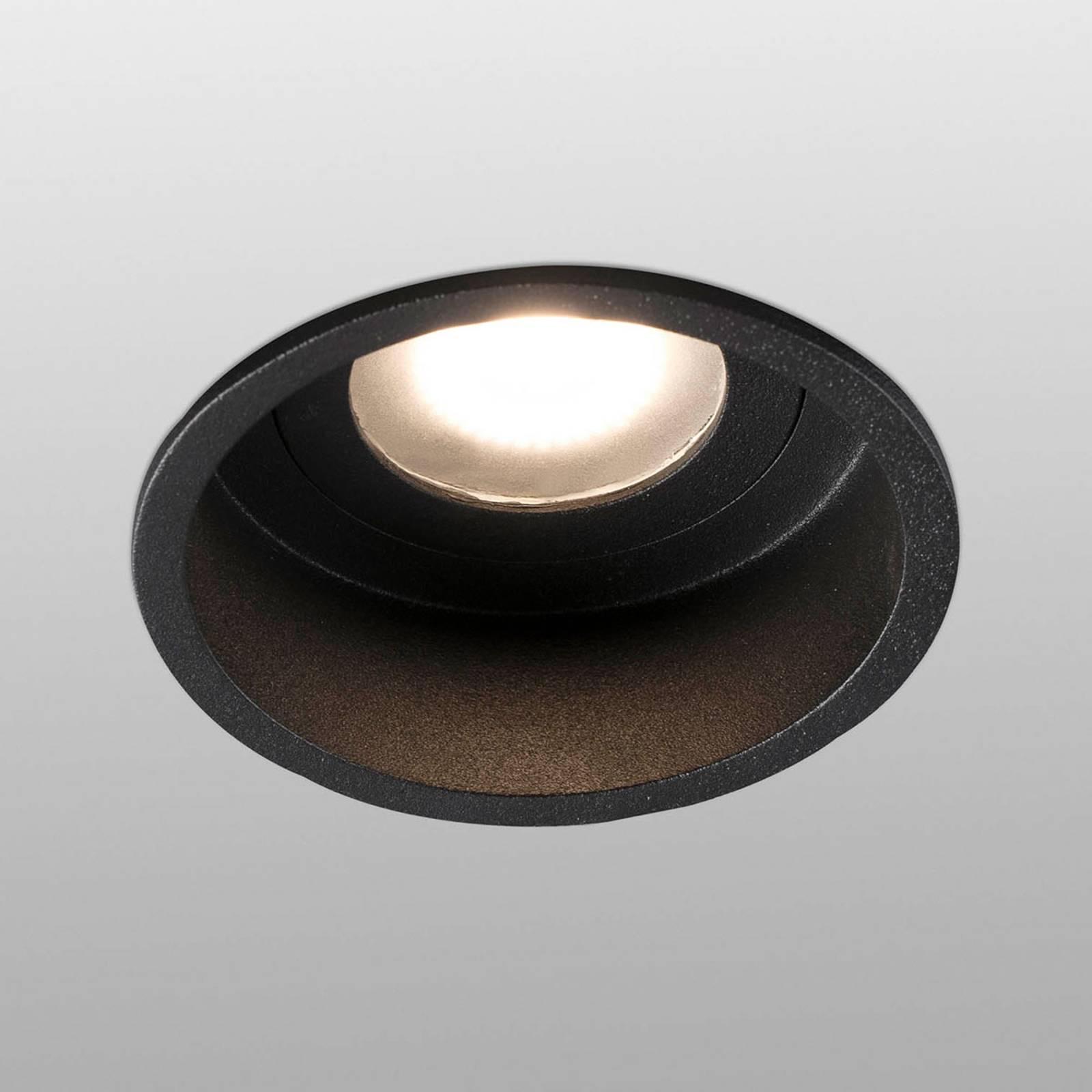 Uppokohdevalo Hyde 1-lamp. pyöreä IP44 musta