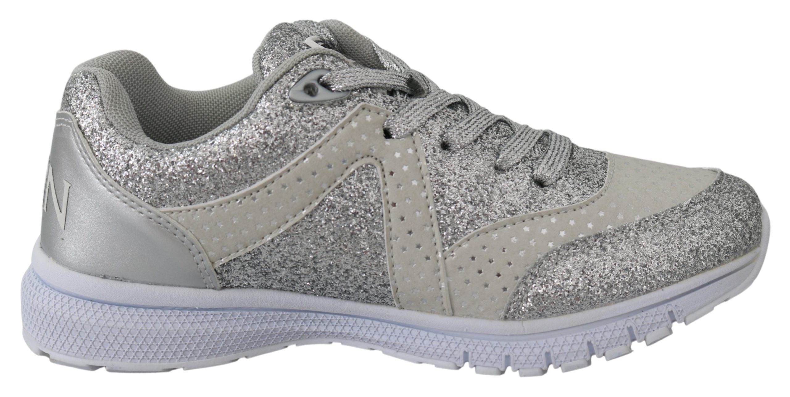 Silver Polyester Runner Jasmines Sneakers Shoes - EU36/US6