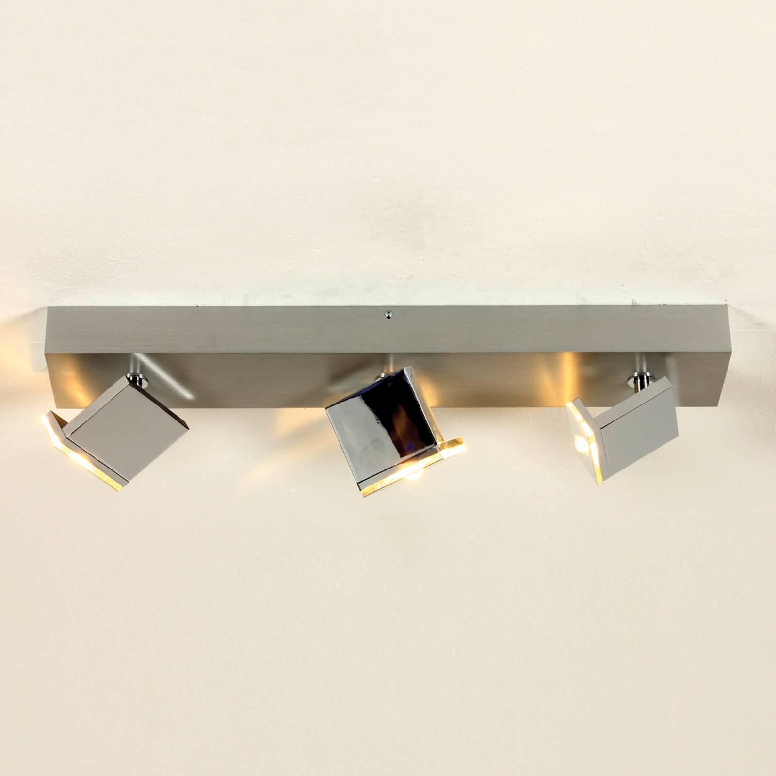 LED-taklampe Elle med tre lys, dimbar