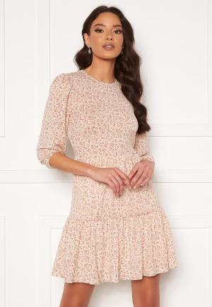 ONLY Freja 3/4 Puff Dress Pumice Stone S