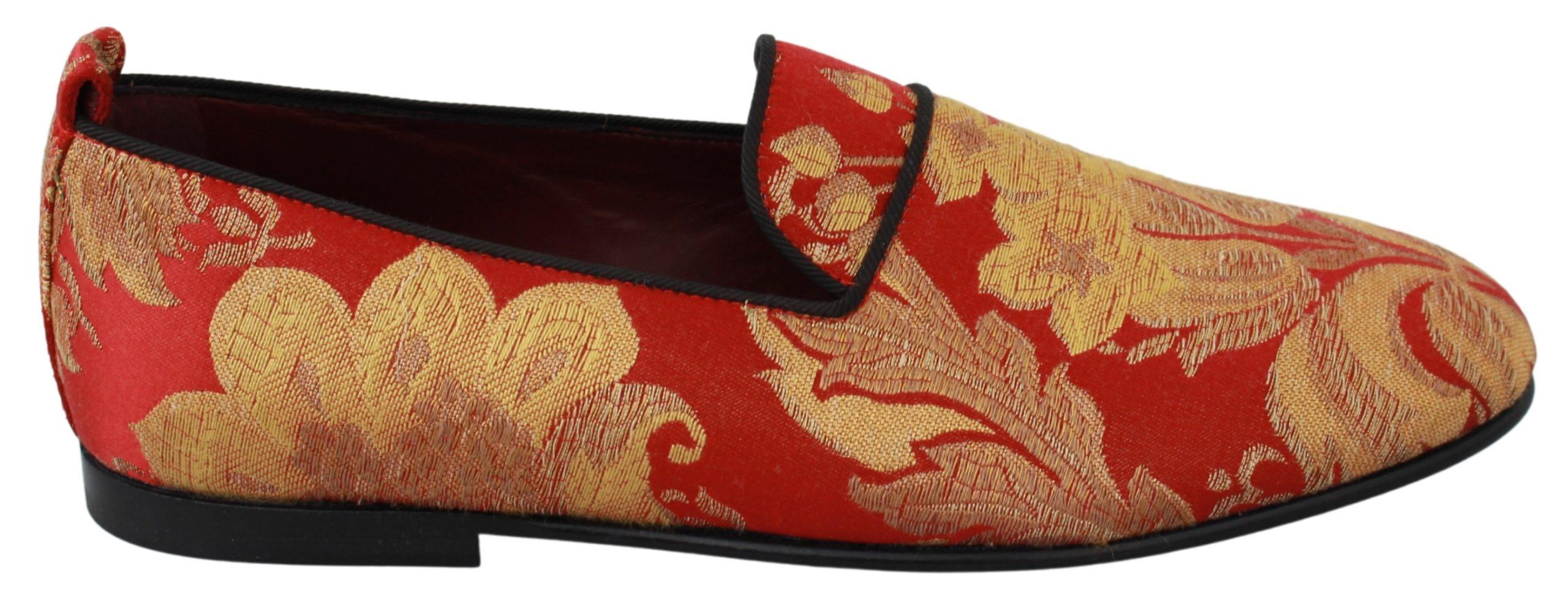 Dolce & Gabbana Men's Brocade Loafer Rose Gold MV2702 - EU39/US6