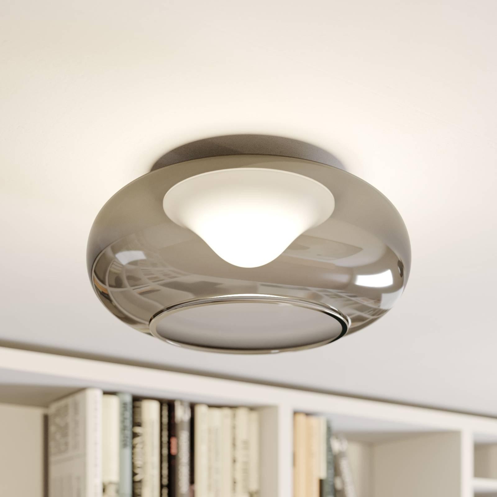 Lasinen LED-kattovalaisin Mijo savunharmaa