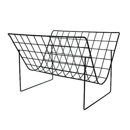 Avisholder Metall Mattsvart