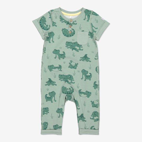 Dress med trykk baby grønn