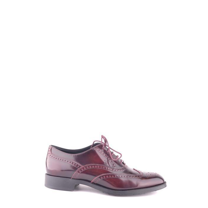 Tod`s Women's Lace Up Shoe Bordeaux 162370 - bordeaux 36