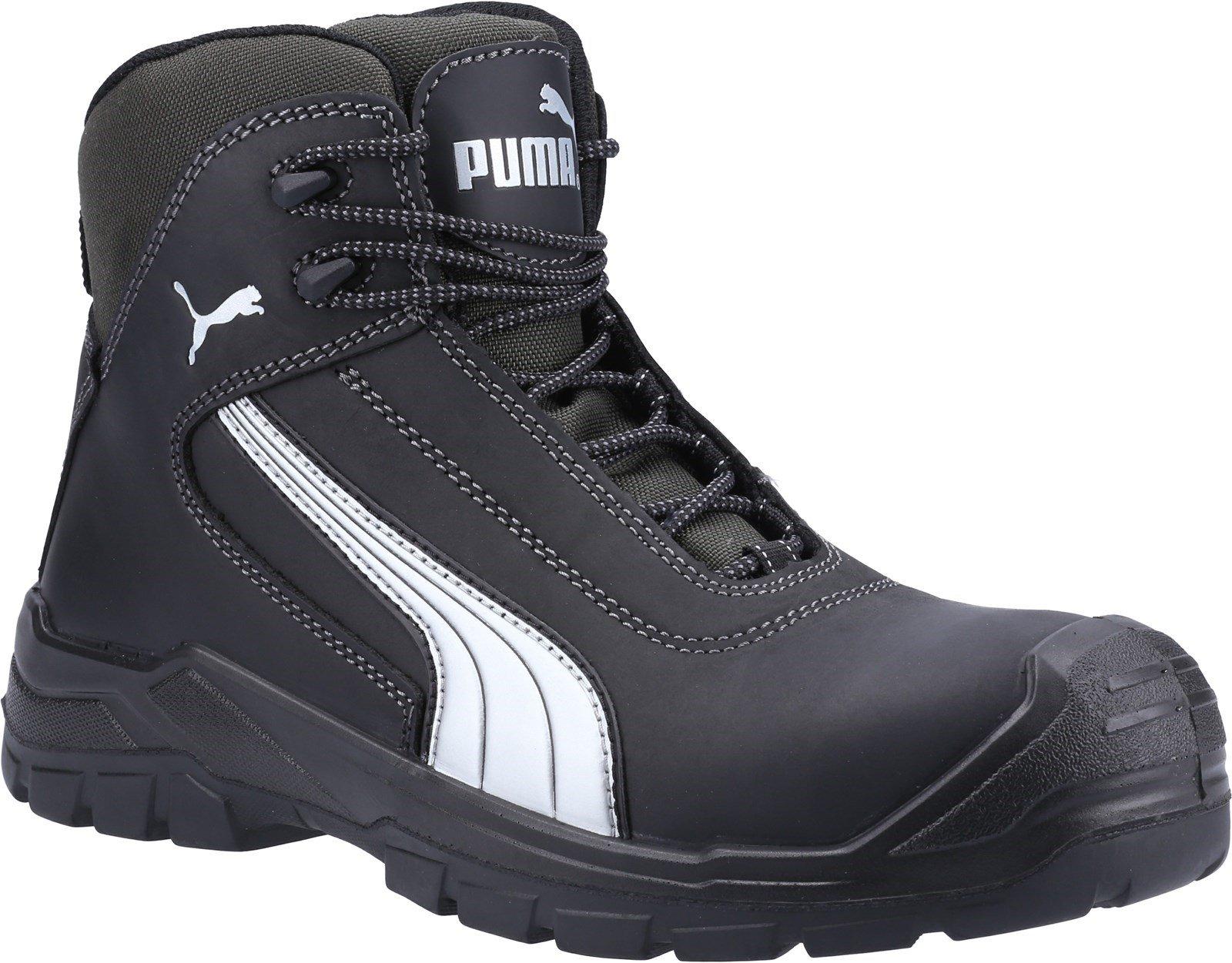 Puma Safety Unisex Cascades Mid S3 Safety Boot Black 23083 - Black 6