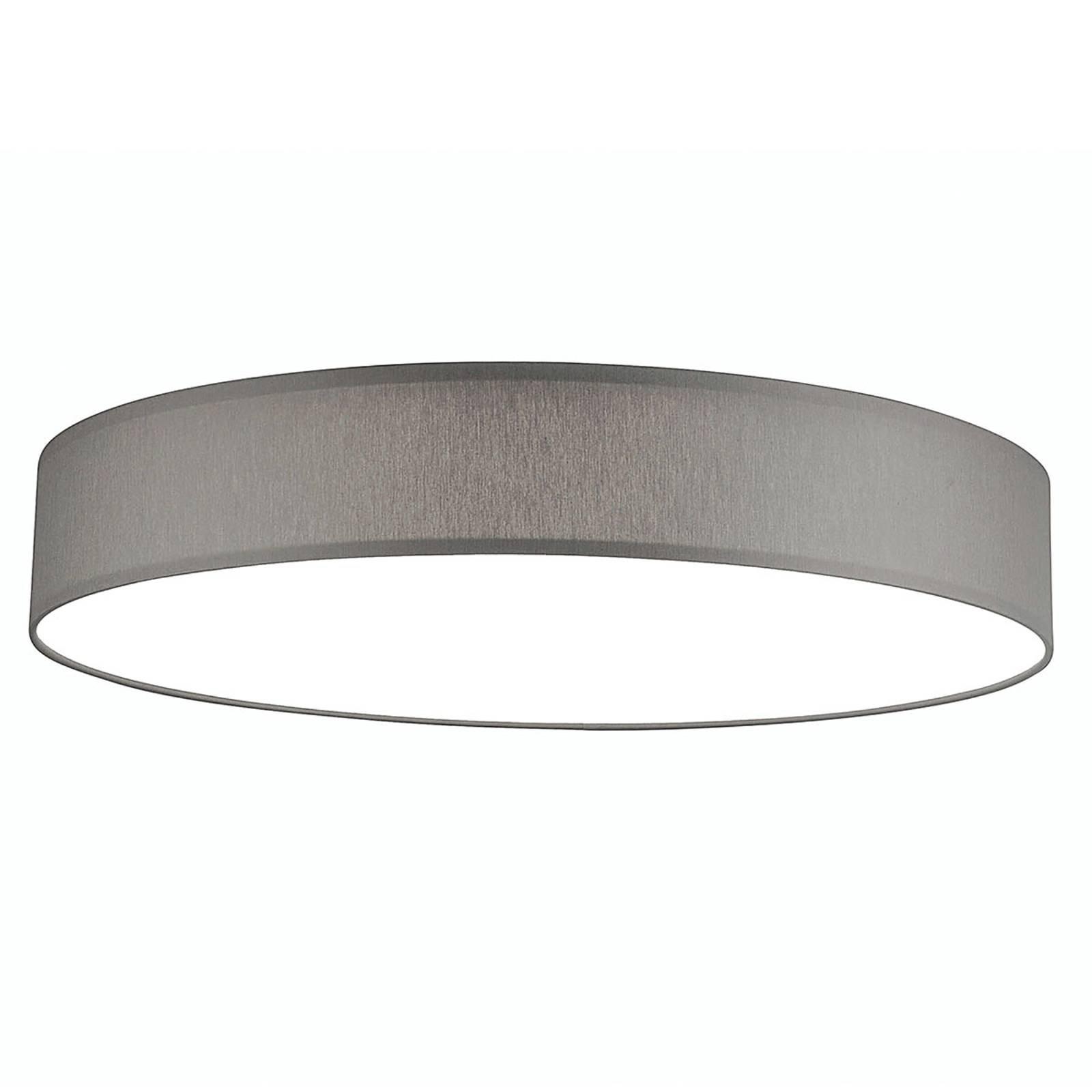 LED-taklampe Luno XL, 3 000 K, 100 W, lysegrå