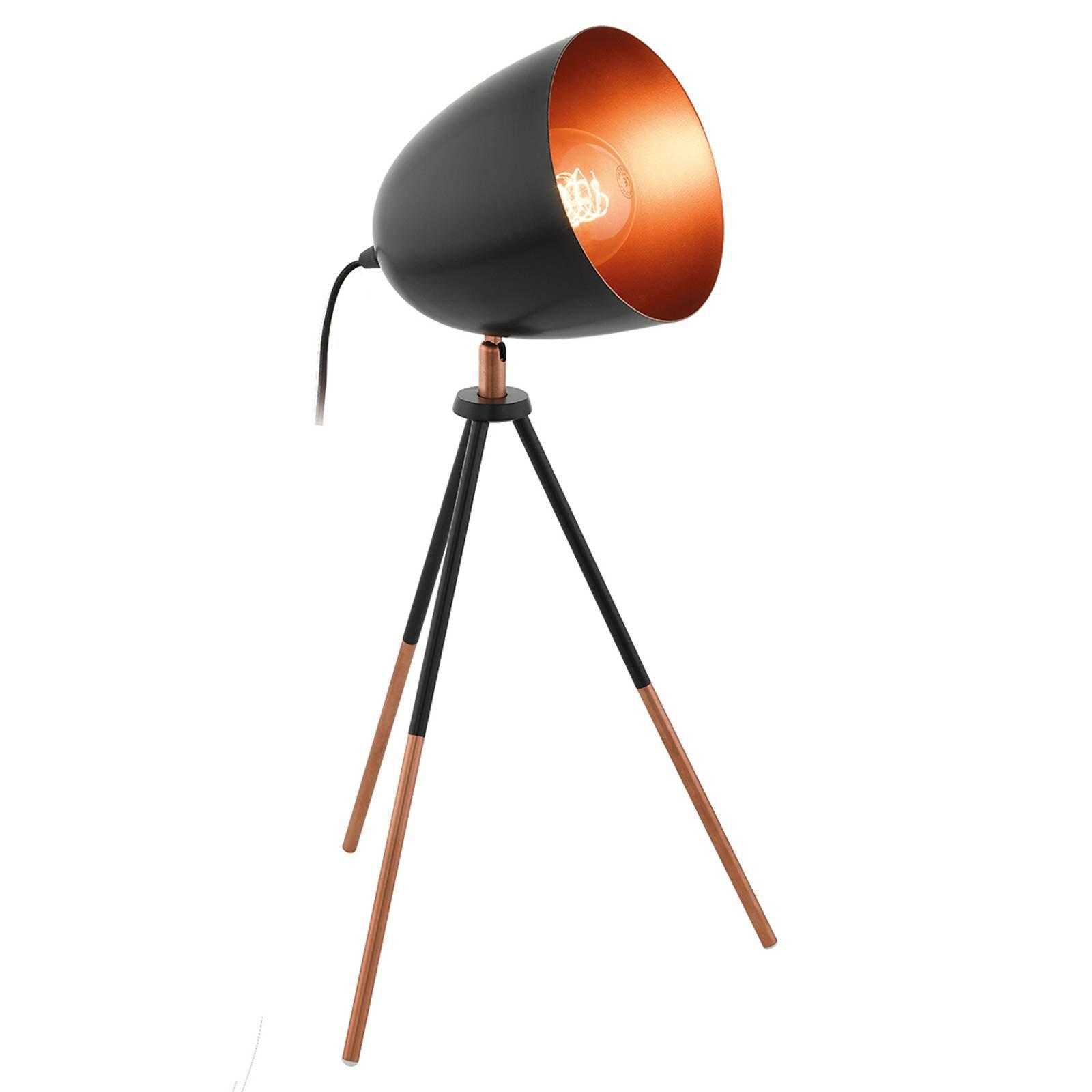 Bordlampe Chester med tre bein i vintagelook