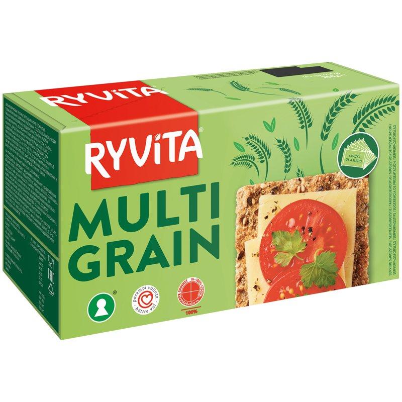 Täysjyväruisnäkkileipä Multigrain - 32% alennus
