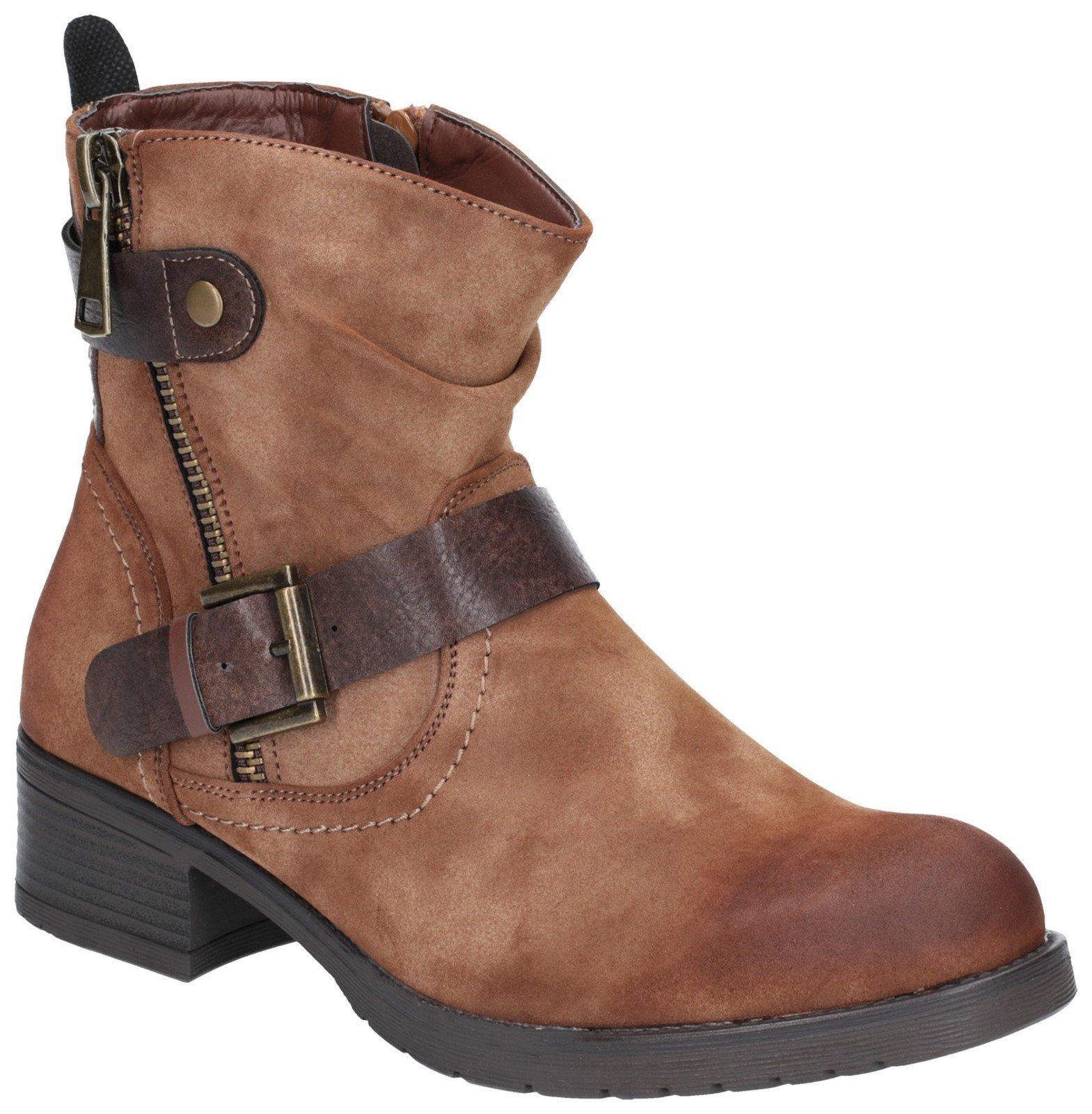 Divaz Women's Jett Zip Up Boot Brown 27166-45651 - Tan 3