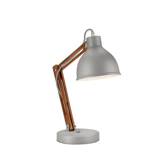 Bordlampe Skansen, justerbar, grå